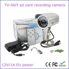 Envío libre impermeable al aire libre dvr cámara de salida de TV de audio/video recorder soporte 32G tarjeta tf loop recording