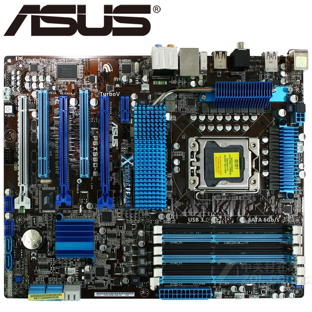 US $238 88 15% OFF|Asus P6X58D E Desktop Motherboard X58 Socket LGA 1366 i7  Extreme DDR3 24G ATX UEFI BIOS Original Used Mainboard On Sale-in