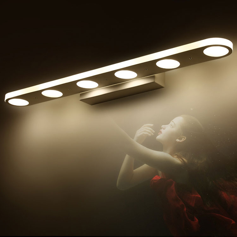 ФОТО 12W 18W modern led mirror lights for bathroom washroom dress room stainless steel led mirror lamp make up modern mirror lights