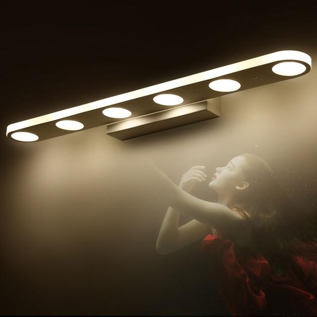 12W 18W modern led mirror lights for bathroom washroom dress room stainless steel led mirror lamp make up modern mirror lights