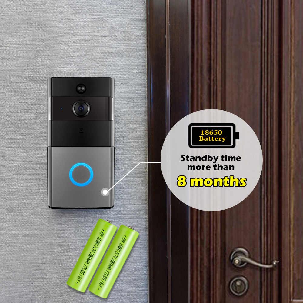 Золотой безопасности WiFi дверной звонок видеодомофон дверной звонок 1080 P HD сигнализация Безопасность ночная версия камеры беспроводной водонепроницаемый дверной звонок
