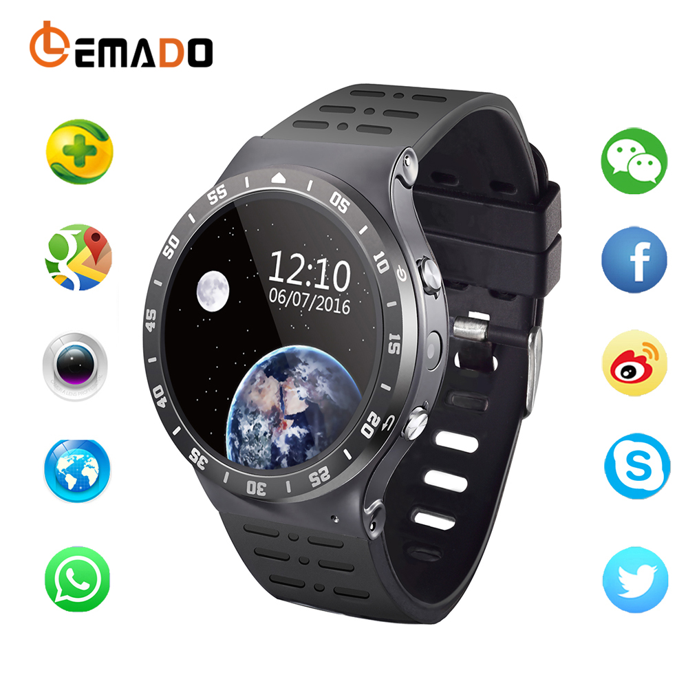 Lemado S99A Fashion Bluetooth Smart Watch Heart Rate Smartwatch Fitness Tracker WIFI GPS clock For Android IOS qav r 220mm carbon fiber racing drone quadcopte qav r 220 f3 flight controller rs2205 2300kv motor littlebee 20a pro esc blheli