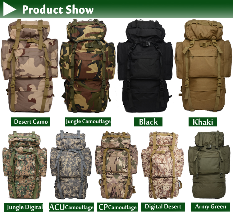 Professional Mountaineering Shoulder Backpack 65L Waterproof Cover Lightweight Tactical Military backbag bag rucksack outdoors