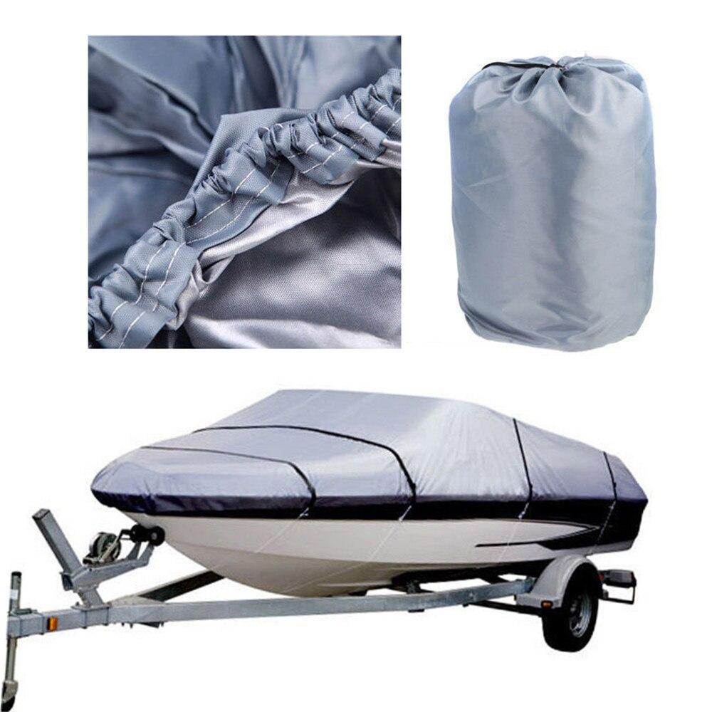 [Offre spéciale] 20-22ft couverture de hors-bord robuste imperméable UV protecteur bateau pêche gris - 3