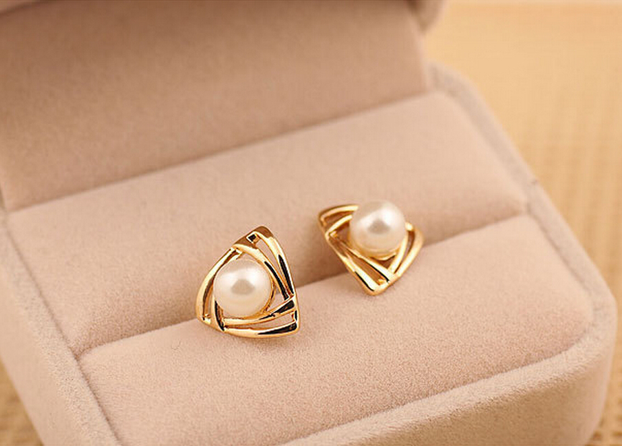 New Fashion Elegant Romantic Jewelry Simulated Pearl Stud Earrings ...