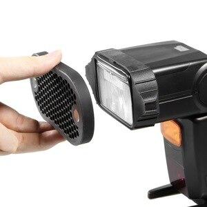 Image 3 - Selens flaş Speedlight petek izgara difüzör reflektör ile manyetik jel bant 7 adet filtreler flaş aksesuarları kiti