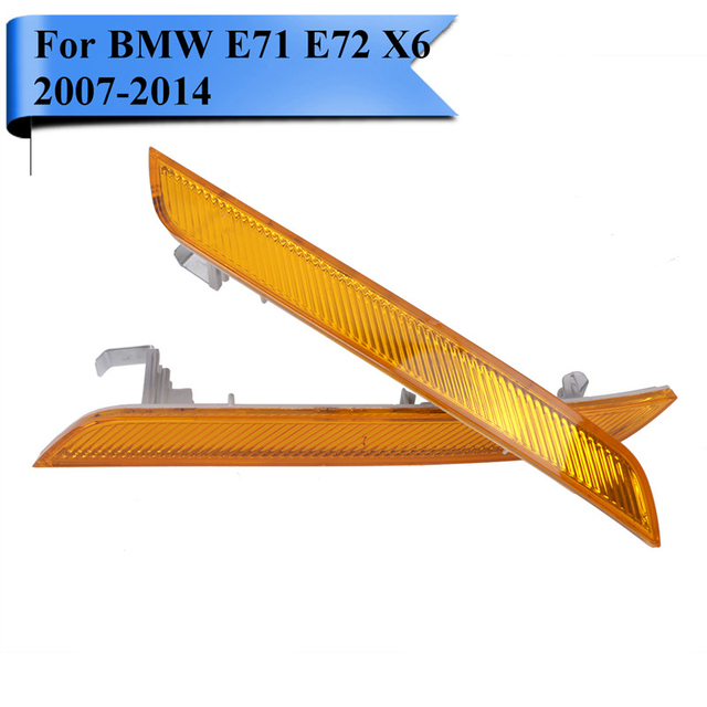 Clear Amber Yellow Front Bumper Reflector For BMW E70 E71 E72 X6 2007 - 2014 Marker Warning Light Strips Car-Styling #W101