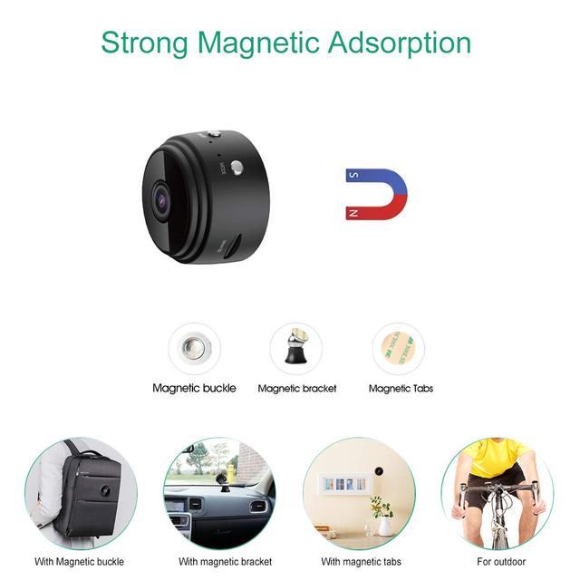 Mini Camera, Home Security Camera WiFi, Night Vision 1080P Wireless Surveillance Camera, Remote Monitor Phone App 1