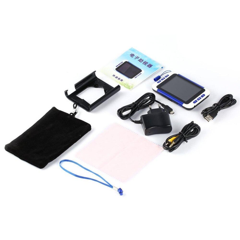 Nuevo 3.5 pulgadas 32X zoom handheld portable Digital Video lupa ayuda de lectura electrónica de bolsillo cámara de vídeo lupa