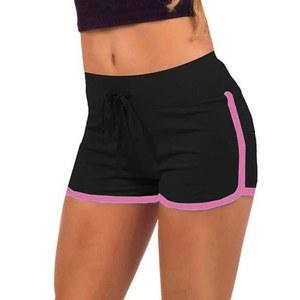 Image 4 - Short dété multicolore pour fille et femme, en coton doux, confortable, élastique, en Patchwork, taille S/M/L