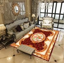 Ethnic Style 3D European Simple Retro-ancient Modern Living Room Sofa, Tea Table Carpet Fashion