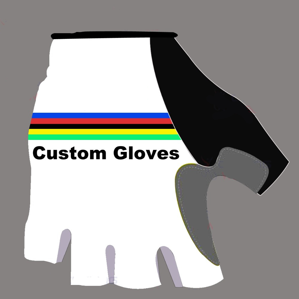 2018 Custom Half Fingers Cycling Gloves MTB Breathable Skidproof Wearable ciclismo Luva Bike Gloves Slip High Quality in Cycling Gloves from Sports Entertainment