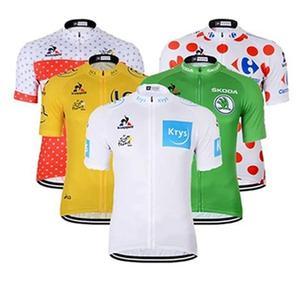 f6f140184 cycling clothing white green yellow 2018 team Men Short sleeve Bike wear