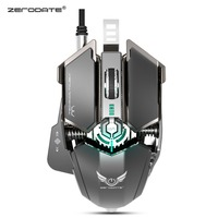 New LD MS500 Gaming Mouse Professional Mechanical Gaming Mouse Ergonomic Adjustable 4000DPI RGB Game Mice Breathing Light