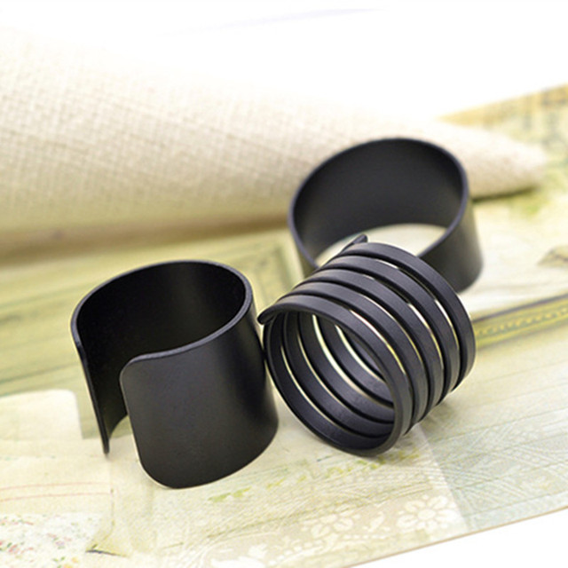 Women's Fashion Cool Sample Elegance Scrub Three-Piece Suit Black Plain Ring CRD