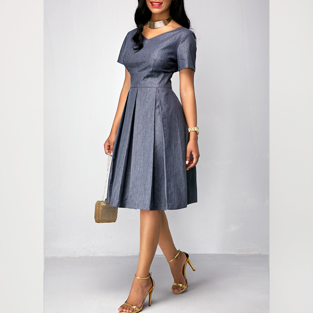 Casual Plus Size Office Dress