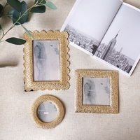 European style modern simple creative metal photo frame lace carved frame decorative frame