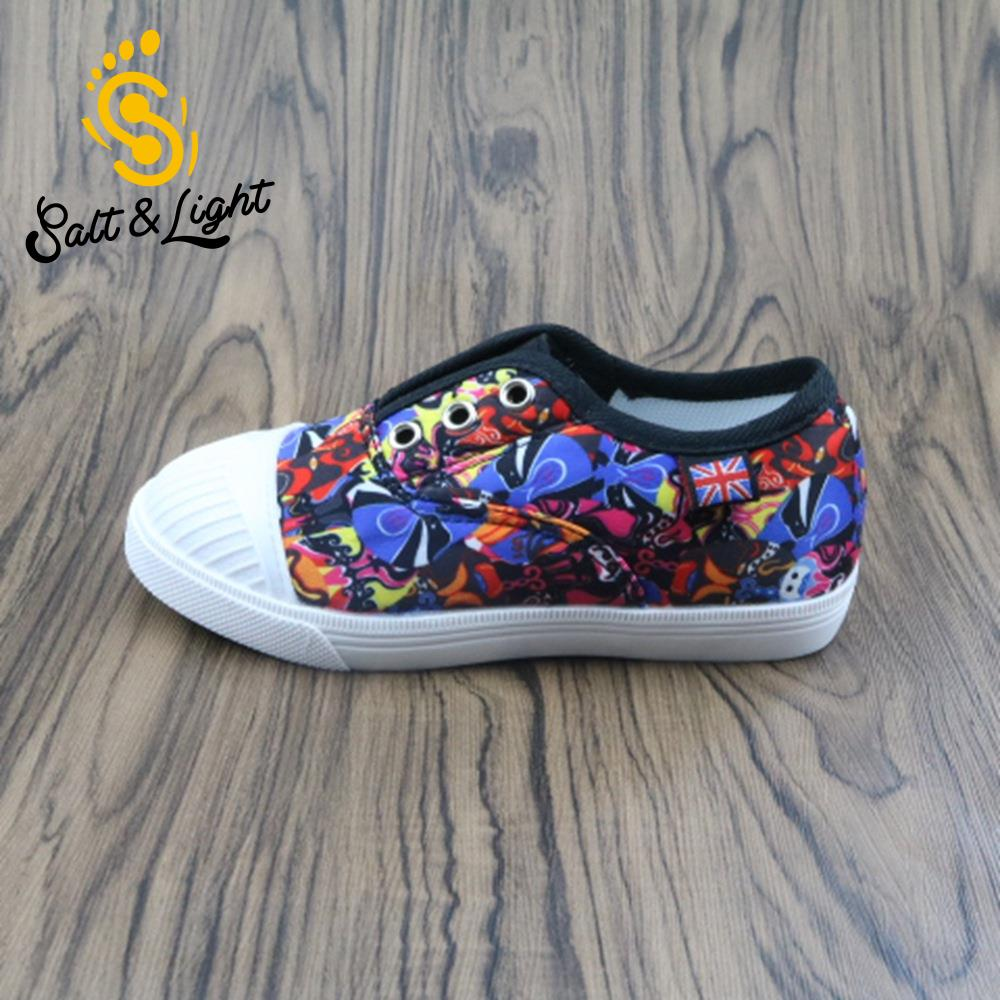 JUSTSL 2017 New Children Safty Quality Non-slip Flat Shoes Kids Fashion Sneakers Mask 3D Printing Patterns Shoes For Boys Girls