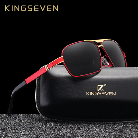 KINGSEVEN DESIGN Men Classic Sunglasses Aviation Frame Polarized Sunglasses For Men Driving UV400 Protection N7855 Pakistan