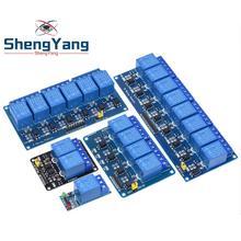 1 шт. ShengYang 5 в 12 В 24 В 1 2 4 8 канальный релейный модуль с оптроном релейный выход 1 2 4 8 способ релейный модуль для arduino diy