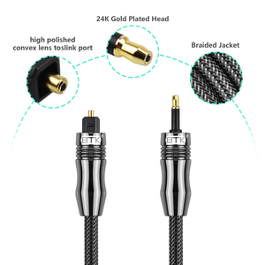 Image 4 - EMK Digital Sound Toslink to Mini Toslink Cable 3.5mm SPDIF Optical Cable 3.5 to Optical Audio Cable Adapter for Macbook 1m 10m