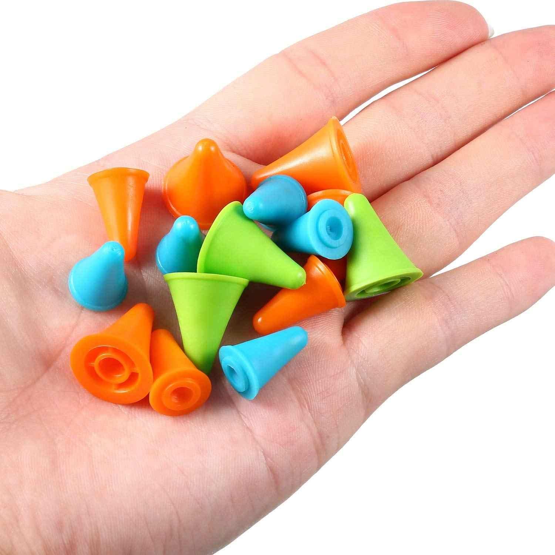 40 個マルチカラーの針先ストッパー針ポイントプロテクター針アクセサリープラスチック製の収納ボックス、 2