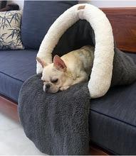 Новинка 2016 на осень-зиму собака кошка спальный мешок собачка теплые мягкие домашние продукты щенок питомников поставки собаки кошки диван S L