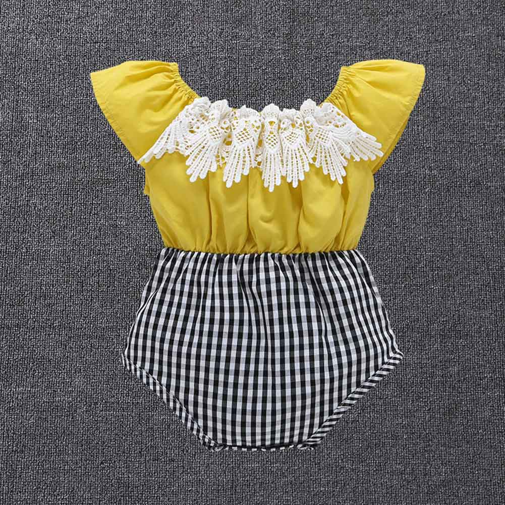 Hot Selling Children Kids Baby Girls Bodysuit Jumpsuit Jumper Summer Cute Outfits Clothes