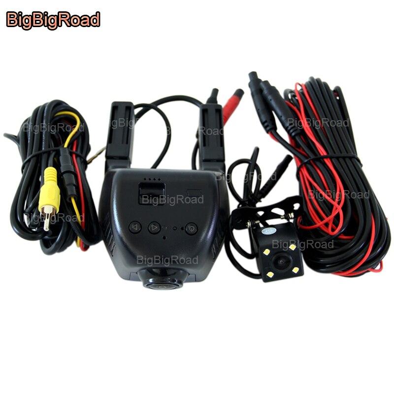 все цены на BigBigRoad For Volkswagen Caravelle t5 Tiguan magotan B6 B7 Gran Lavida Car Dash Cam Wifi DVR Dual Camera Video Recorder