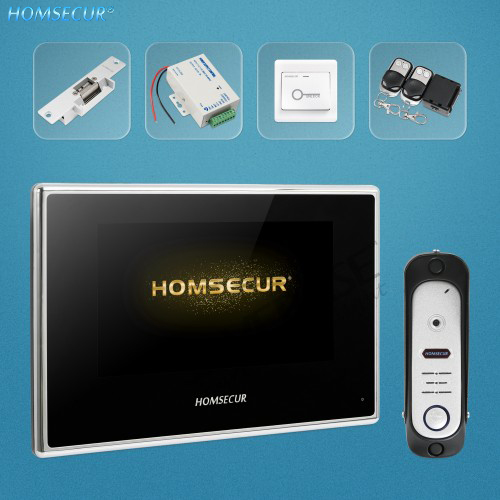 HOMSECUR 4 Wire AHD Video Door Entry Security Intercom with 1.3MP Silver Camera BC051HD-S+BM718HD-B HOMSECUR 4 Wire AHD Video Door Entry Security Intercom with 1.3MP Silver Camera BC051HD-S+BM718HD-B
