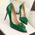 European American Sexy Point Toe Dress Shoes Retro Fashion Thin High Heel Pumps Elegant Women Bridal Shoes Slim Footwear C073