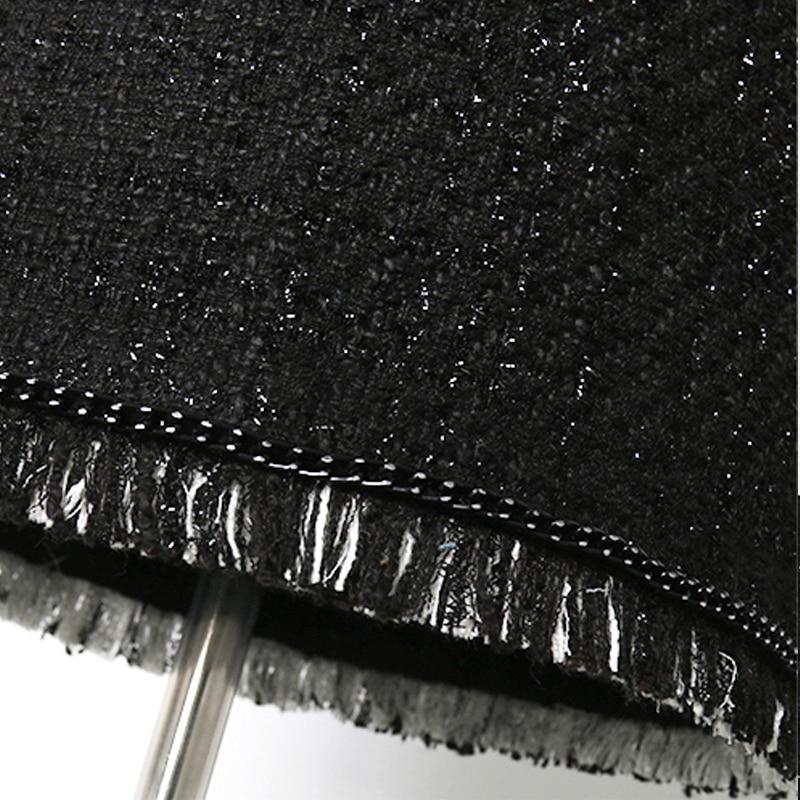 Tweed Taille Femmes Sac Jupe Hanche Coupe Haute 2019 Soie Dames Noir Nouvelles En Lumineux De A Petit Parfum qBpdqwC