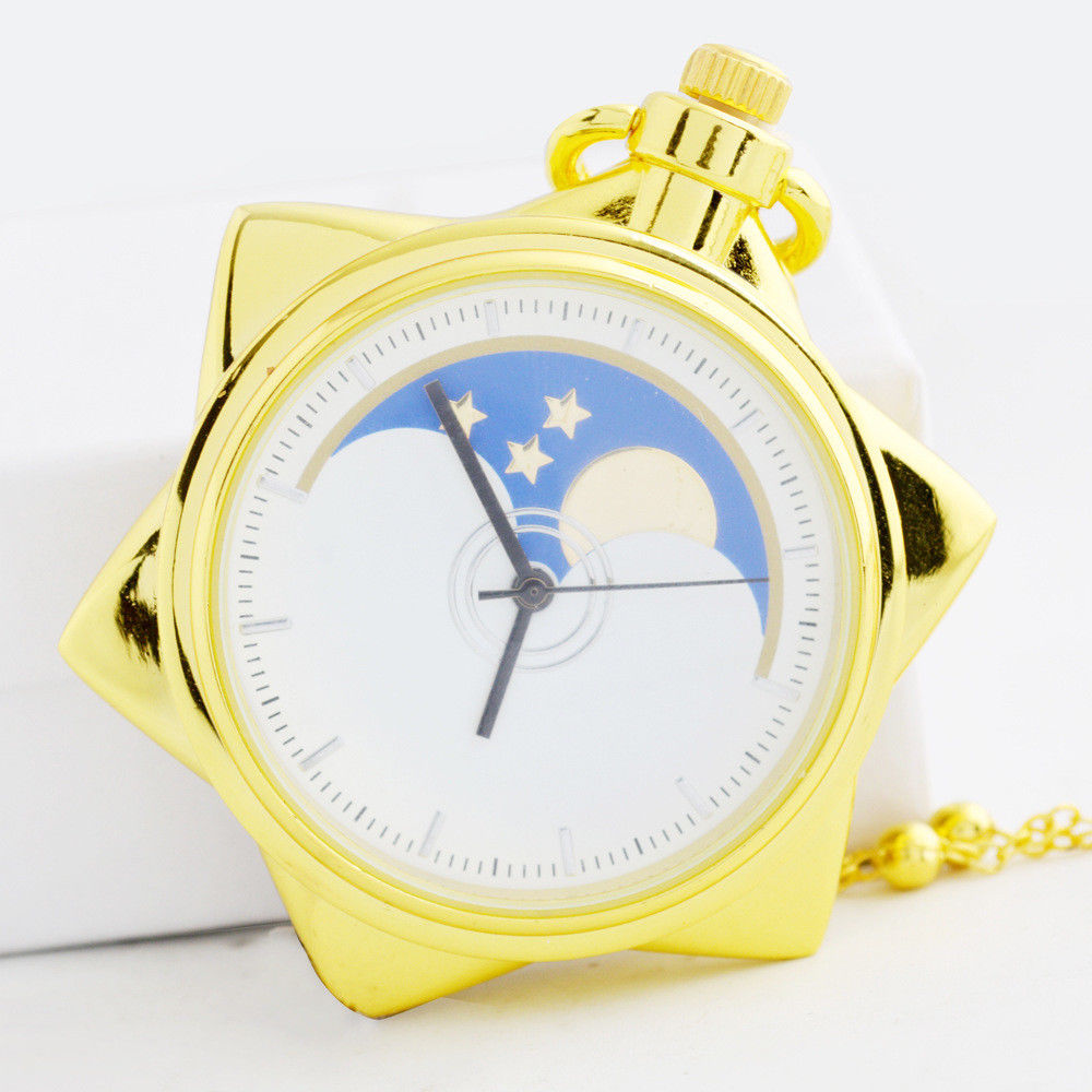 Sailor Moon 20th Anniversary Crystal Star Pocket Watch Necklace Pendant Cosplay Anime racmmer cycling gloves guantes ciclismo non slip breathable mens