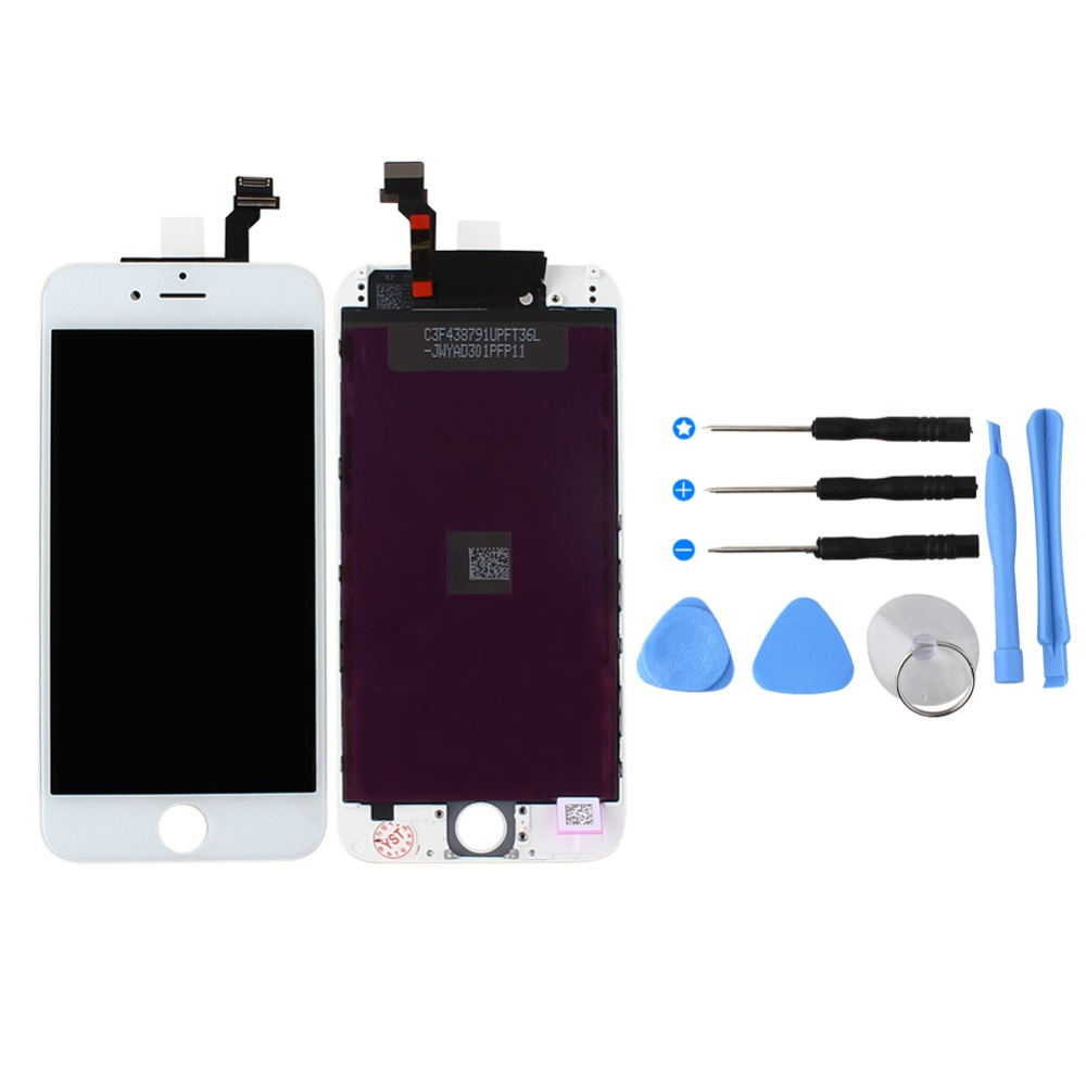 No Dead Pixel Grade AAA 4.7 inch LCD Display For Apple iPhone 6 touch screen with digitizer assembly replacement parts + Tools lcd screen assembly for apple iphone 4 4g lcd display touch screen digitizer pantalla with frame bezel replacement black white