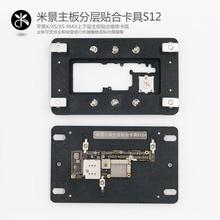 S12 iPX Schloss platte Reparatur Clamp Für iPhone X XS XSMAX Festen Plattform Wartung Leuchte Oberen und Unteren Schweißen von wichtigsten Bord