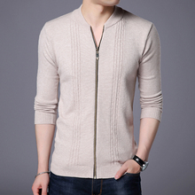 Men's Knitted Sweatercoat Zipper Slim Fit Cardigan Men 2018 Autumn Winter Mens Clothing Solid Casual Sweater Overcoat Plus Size