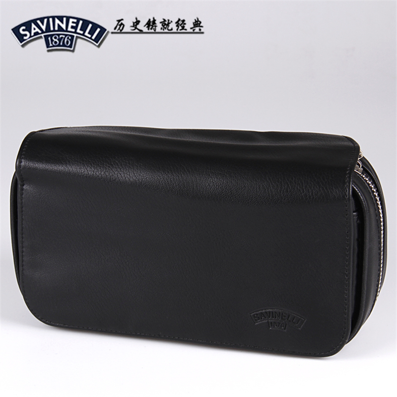 Envío gratis Big Black Leather pipe bag / tabaco bag holder 3 fumar pipa accesorios para fumar SV1876
