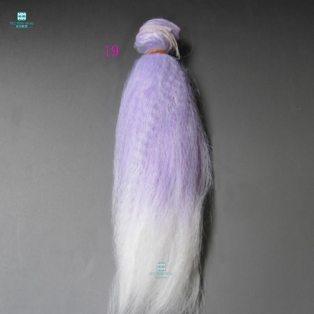 1/3 1/4 1/6 bjd / s doll puffy doll hair for 15cm * 100cm - Қуыршақтар мен керек-жарақтар - фото 3