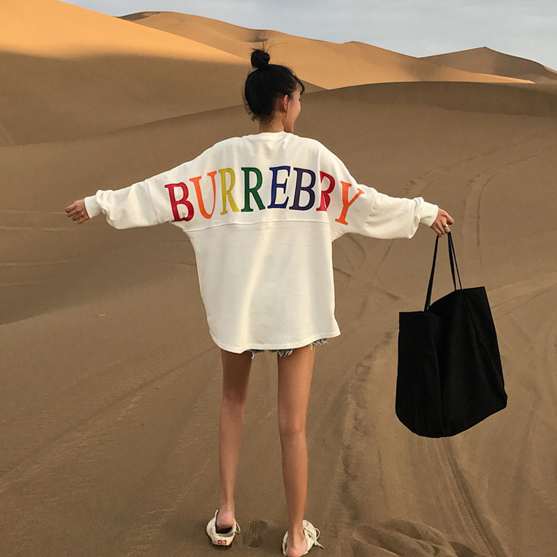 Autumn Women Hoodies Sweatshirts Pullovers Causal Loose Sweatshirts Women Hoodie Cotton Printed O Neck Sweat-shirt BerylBella