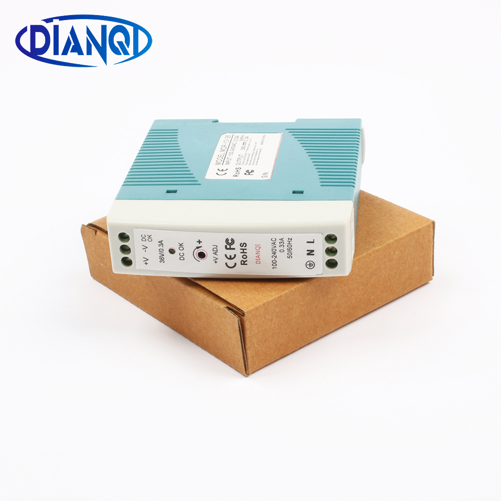 Switching power supply MDR-10 0.3A 36V 10W Din Rail power supply ac-dc driver AC/DC wide constant voltage LED strip 110V 220V