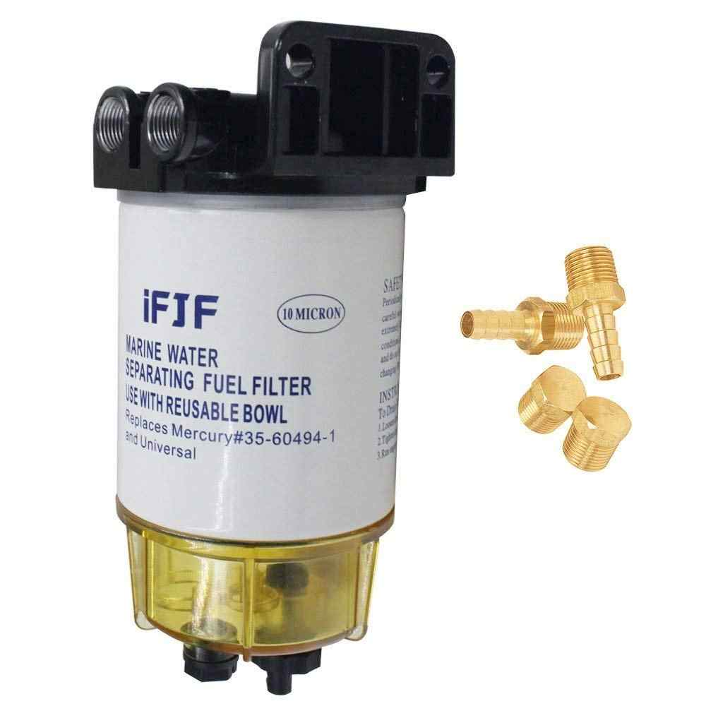 hight resolution of fuel water separating filter 3 8 inch npt port for outboard motor mercury 35