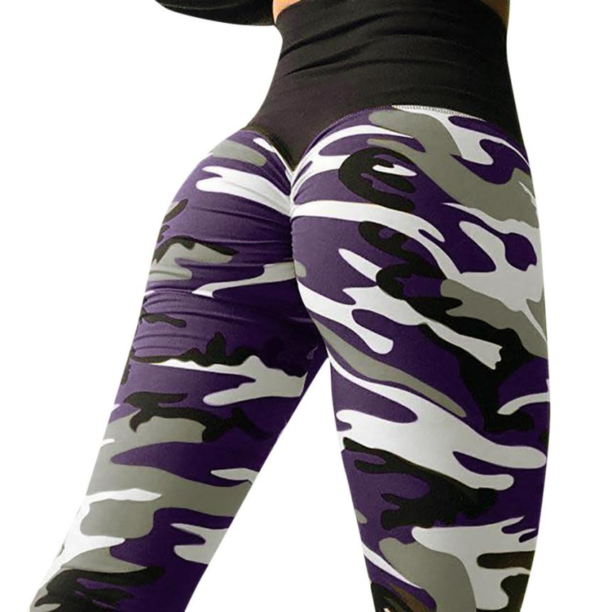 Women's camouflage Camo Patchwork Workout Leggings Fitness Sports Gym Running Sexy Hip Athletic Pants flexible track trousers