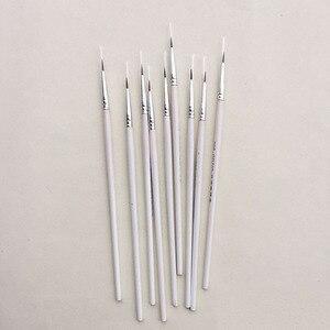 6 шт./компл. тонкая ручная краска ed, тонкая ручка для рисования, художественная Ручка #0 #00 #000, принадлежности художественные кисти, нейлоновая кисть, ручка для рисования