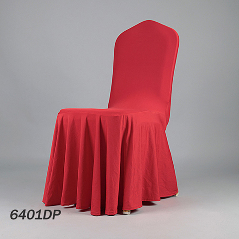 NEW Polyester Skirting Chair Cover Pleat Elastic Christmas Seat Dinner Banquet From China Factory