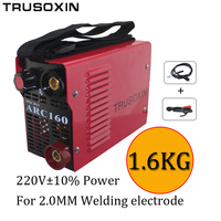 220V New protable DIY welder suitable for 2.0MM electrode IGBT inverter DC hand welding machine/equipment / tools with accessory