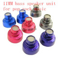 DIY ear headphones 11MM bass speaker unit for pop rock music