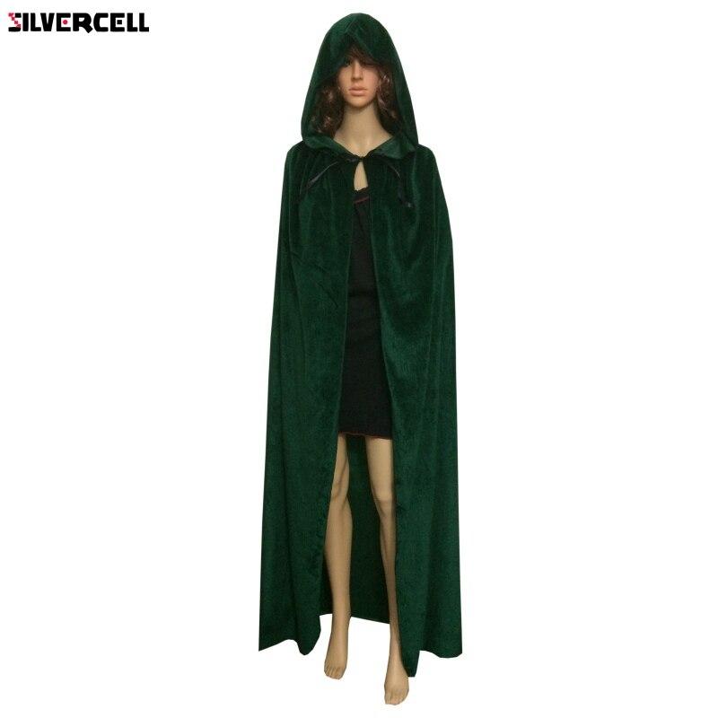 Adult Kid Unisex Cape Robe Hood Cloak Halloween Vampire Wicca Costume Props Coat