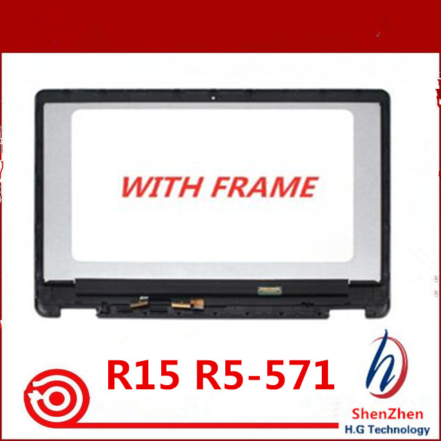 Original 15 6 LCD TouchScreen Digitizer Assembly with Bezel For font b Acer b font Aspire