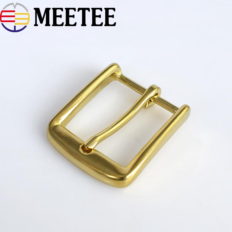 Solid Brass Metal Belt Buckles Leathercraft Hardware Shoes Bag Pin Buckle For Webbing 38mm Width DIY Sewing Accessory KY2083