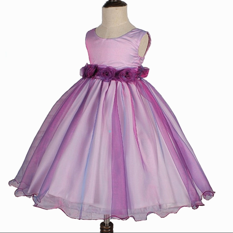 Free Shipping  HG Princess 2T-10T Organza Kids Party Gowns Prom Dress 2017 New Arrival Purple Flower Girl Dresses For Weddings цены онлайн